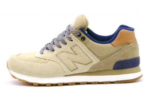 New Balance 574 (Beige/Blue)